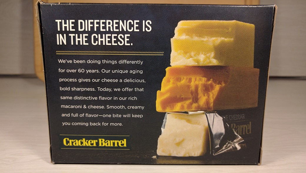 Review Cracker Barrel Sharp Cheddar Macaroni Cheese New Fewd